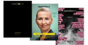 Forsider til Fagbladet 3F lavet i samarbejde med Torsten Høgh Rasmussen