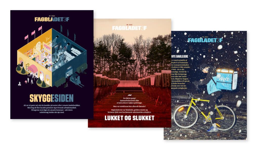 Fagbladet 3F forsider