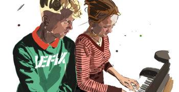 Børn der spiller klaver